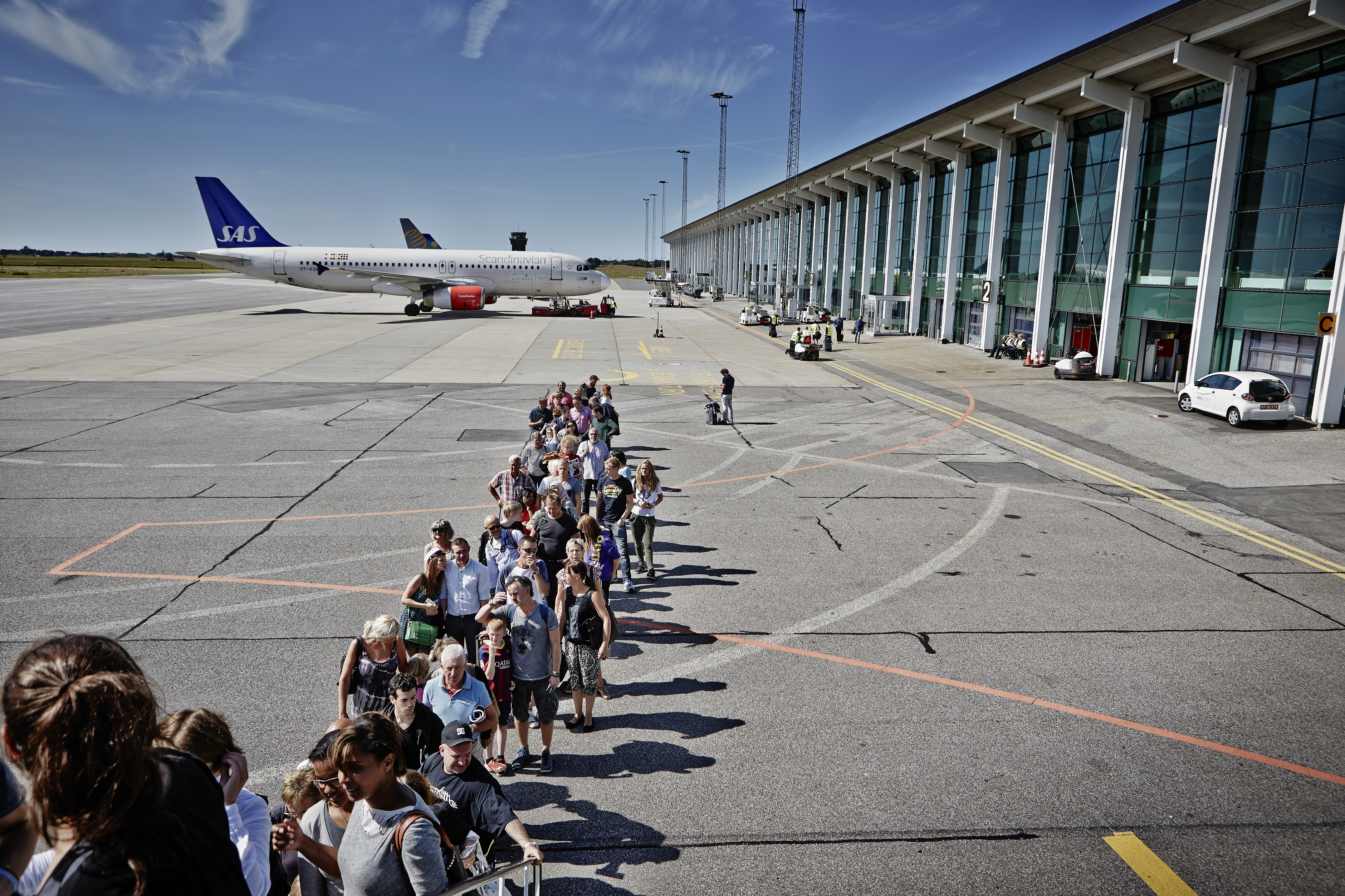 Boarding i Aalborg Lufthavn